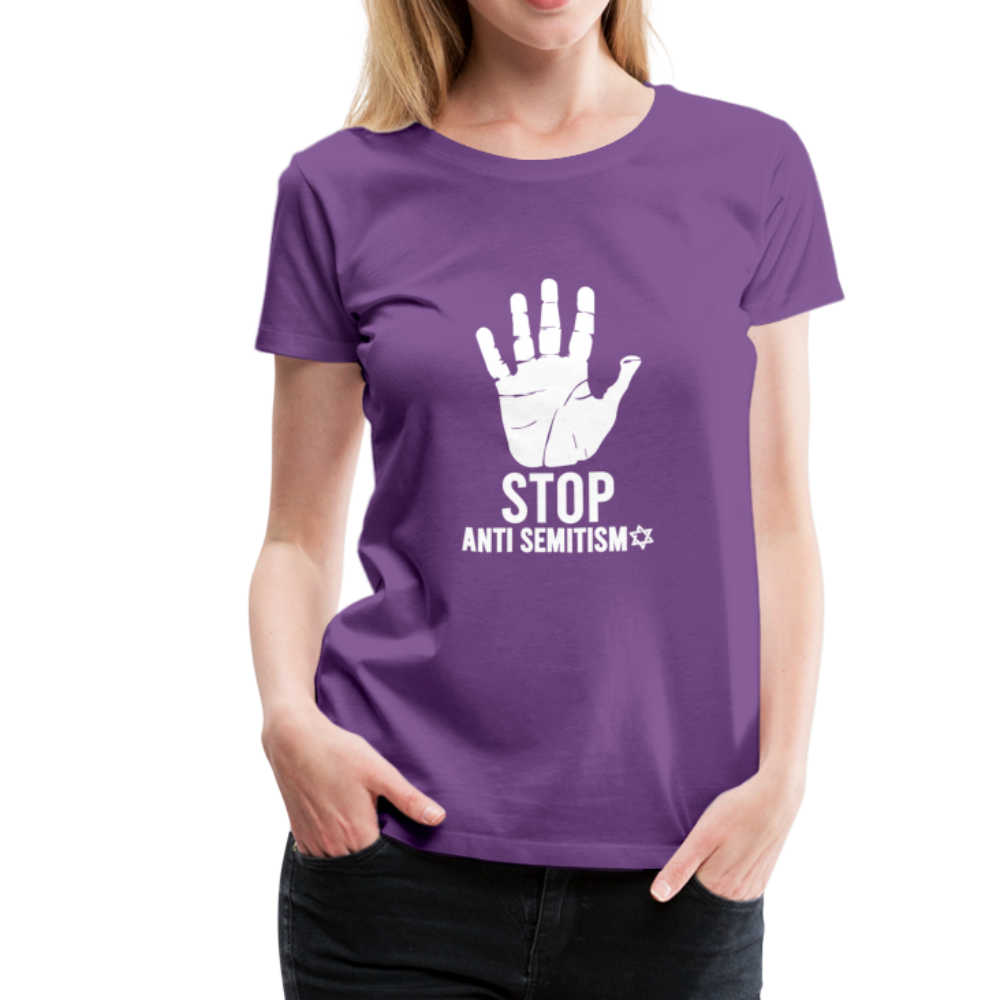 Stop Anti Semitism Women's Premium T-Shirt - purple