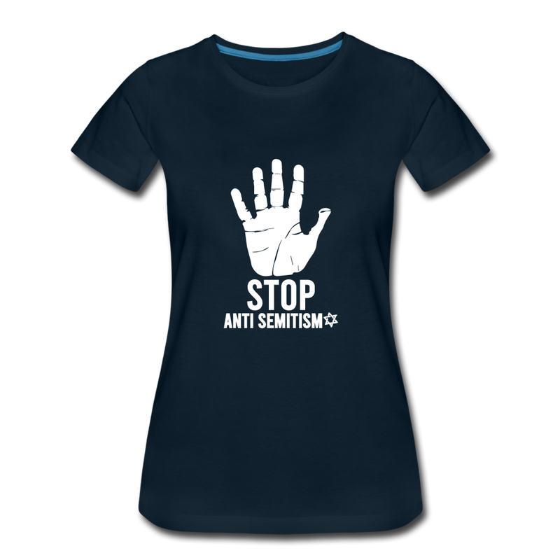 Stop Anti Semitism Women's Premium T-Shirt - deep navy