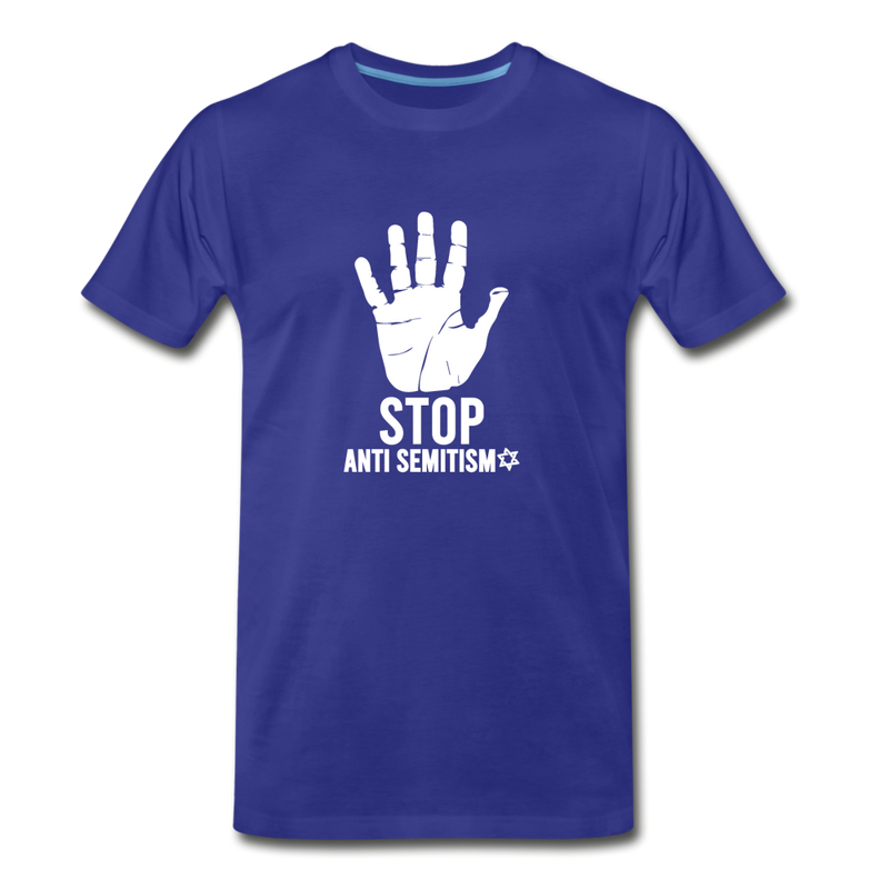 Stop Anti Semitism Men's Premium T-Shirt - royal blue