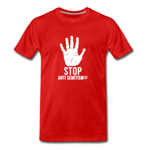 Stop Anti Semitism Men's Premium T-Shirt - red