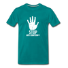 Stop Anti Semitism Men's Premium T-Shirt - teal
