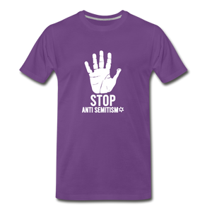 Stop Anti Semitism Men's Premium T-Shirt - purple