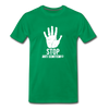 Stop Anti Semitism Men's Premium T-Shirt - kelly green