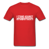I Stand Against Antisemitism Men's T-Shirt - red