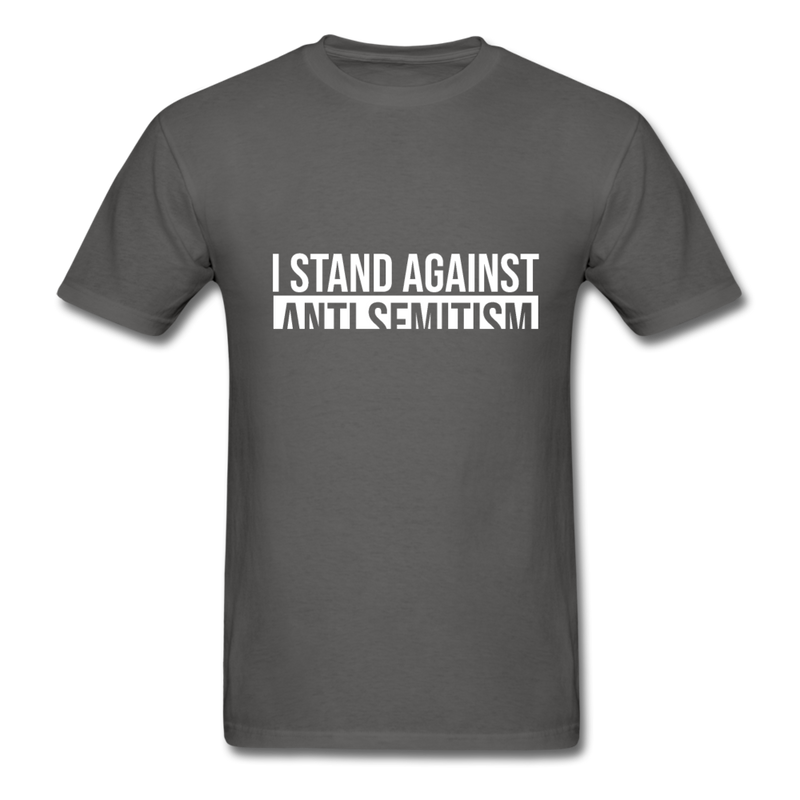 I Stand Against Antisemitism Men's T-Shirt - charcoal