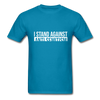 I Stand Against Antisemitism Men's T-Shirt - turquoise