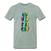 Oy Vey I'm Gay Men's Premium T-Shirt - steel green