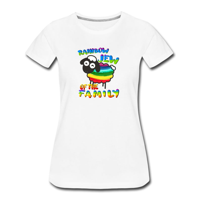 Rainbow Jew of the Family Women's Premium T-Shirt - white