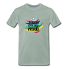 Jewish Gay And Proud Men's Premium T-Shirt - steel green