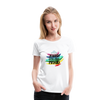 Jewish Gay and Proud Women's Premium T-Shirt - white