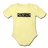 Mensch Organic Short Sleeve Baby Bodysuit - washed yellow