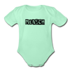 Mensch Organic Short Sleeve Baby Bodysuit - light mint