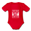 Keep Calm And Fight Anti-Semitism Organic Short Sleeve Baby Bodysuit - red