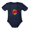 Jewish King Organic Short Sleeve Baby Bodysuit - dark navy