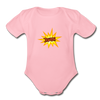 Jewish Organic Short Sleeve Baby Bodysuit - light pink