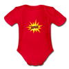 Jewish Organic Short Sleeve Baby Bodysuit - red