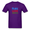 Peace Love Hanukkah Men's T-Shirt - purple