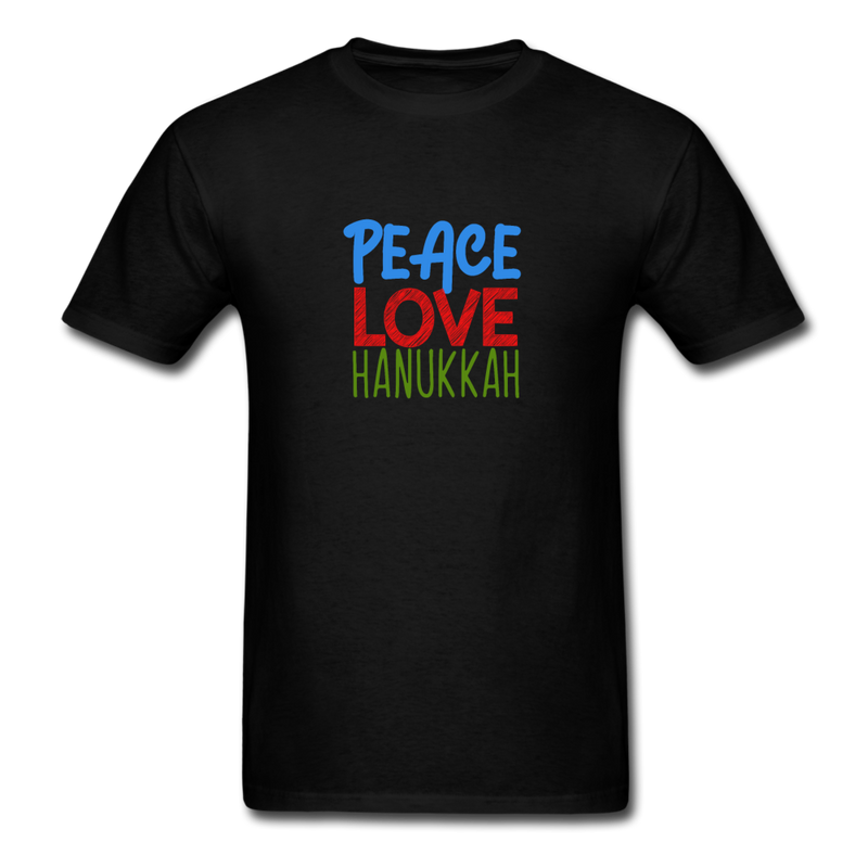 Peace Love Hanukkah Men's T-Shirt - black