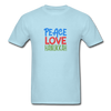 Peace Love Hanukkah Men's T-Shirt - powder blue