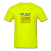 Peace Love Hanukkah Men's T-Shirt - safety green