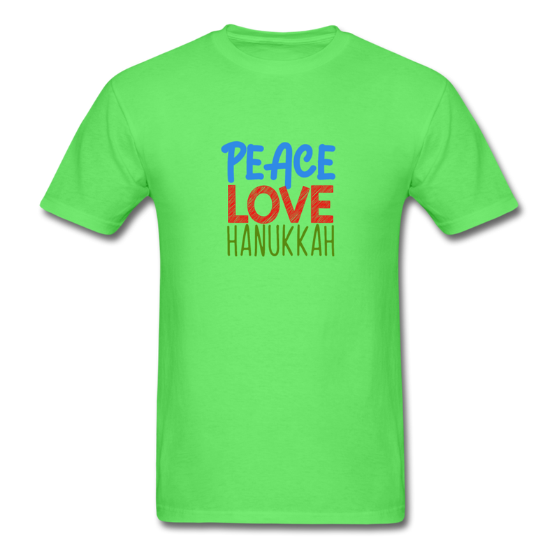 Peace Love Hanukkah Men's T-Shirt - kiwi