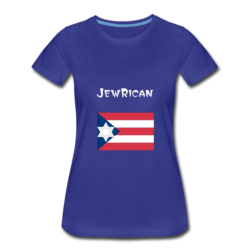 JewRican Women's Premium T-Shirt - royal blue