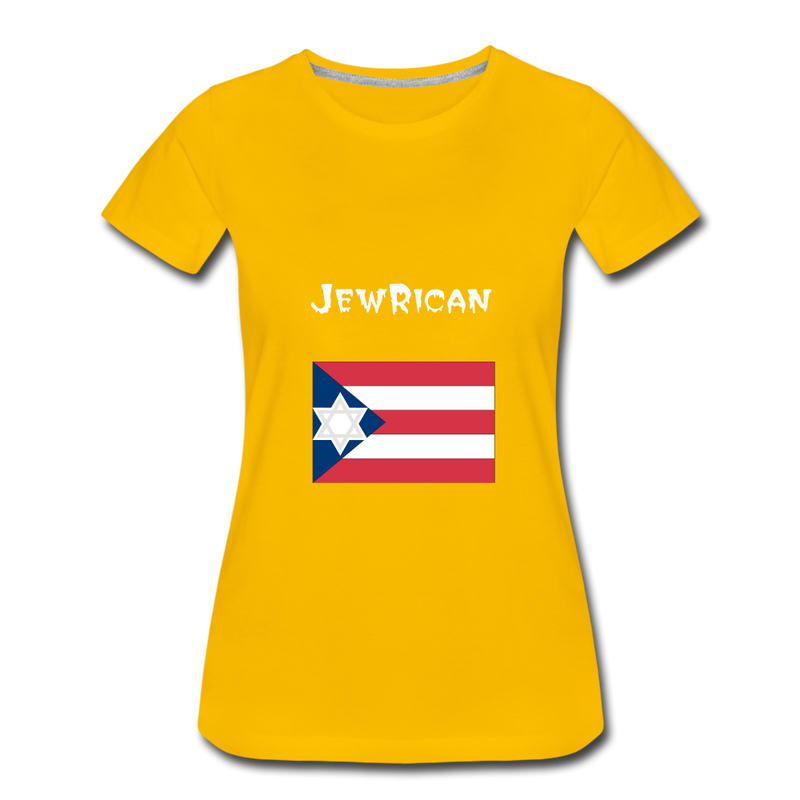 JewRican Women's Premium T-Shirt - sun yellow