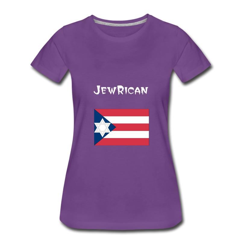 JewRican Women's Premium T-Shirt - purple