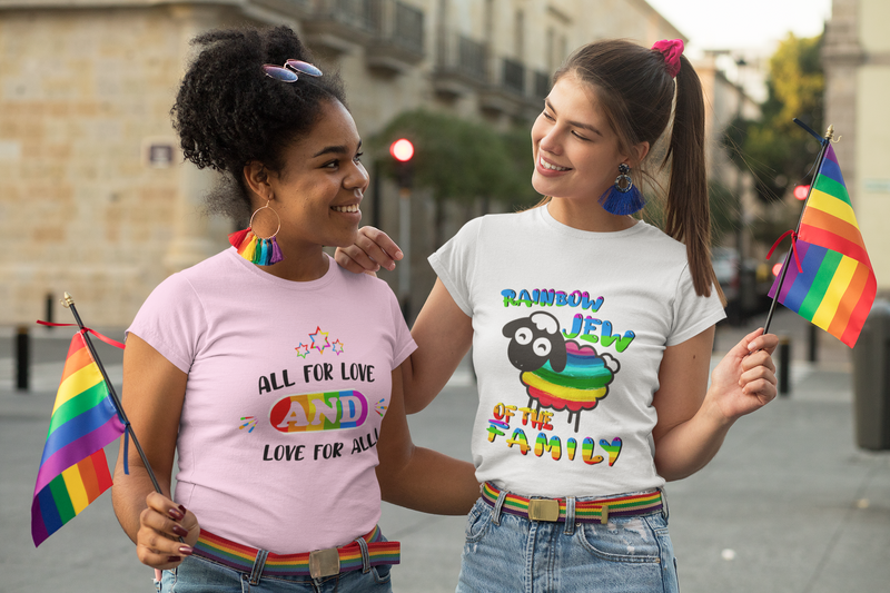 Rainbow Jew of the Family Women's Premium T-Shirt
