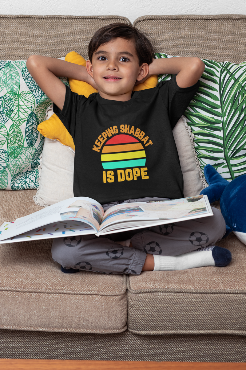 Keeping Shabbat Is Dope Kid's Fine Jersey Tee