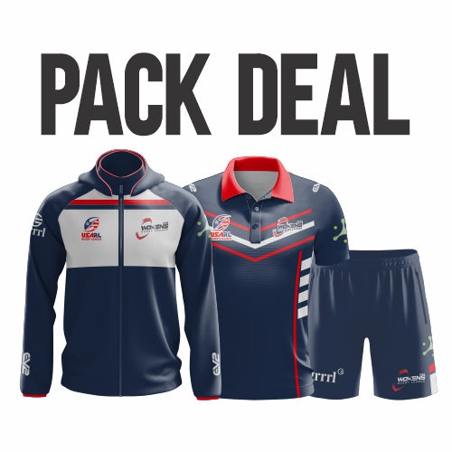 USA Womens Rugby League - Pack Deal (Elite Hoodie, Club Polo & Training Short)