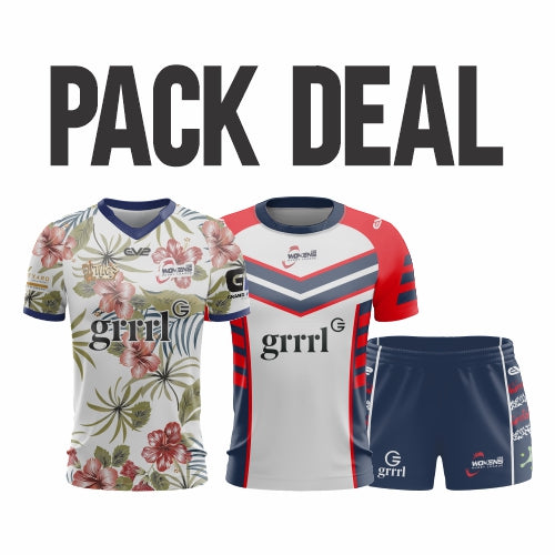USA Womens Rugby League - Pack Deal (Pro Jersey, Rugby League Short & Training Shirt)