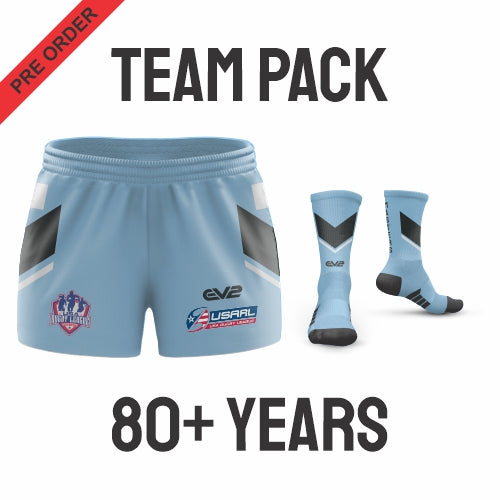 USA Masters Rugby League - Blue Pack (Players are required to wear the color shorts that match their age group in accordance with USA Masters Rules)