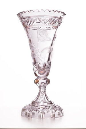 Vase 350 Poppe Collection - Color Clear Crystal - CARLO QUATRO
