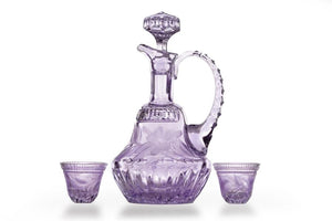 Aperitif Set 6 +1 - Hybiscus Collection - Color Violet - CARLO QUATRO