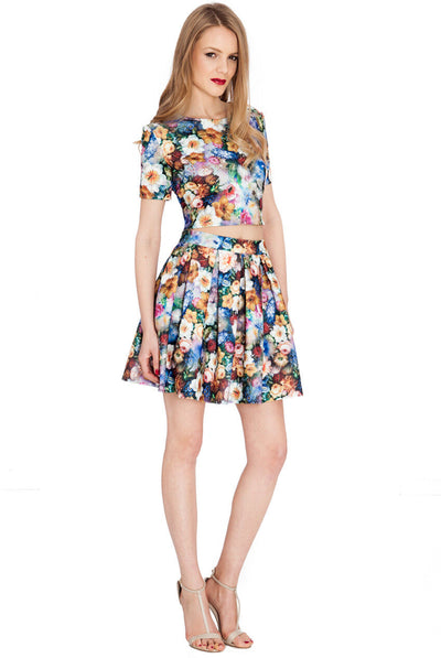 Multicoloured Floral Print Co-ord - Front View
