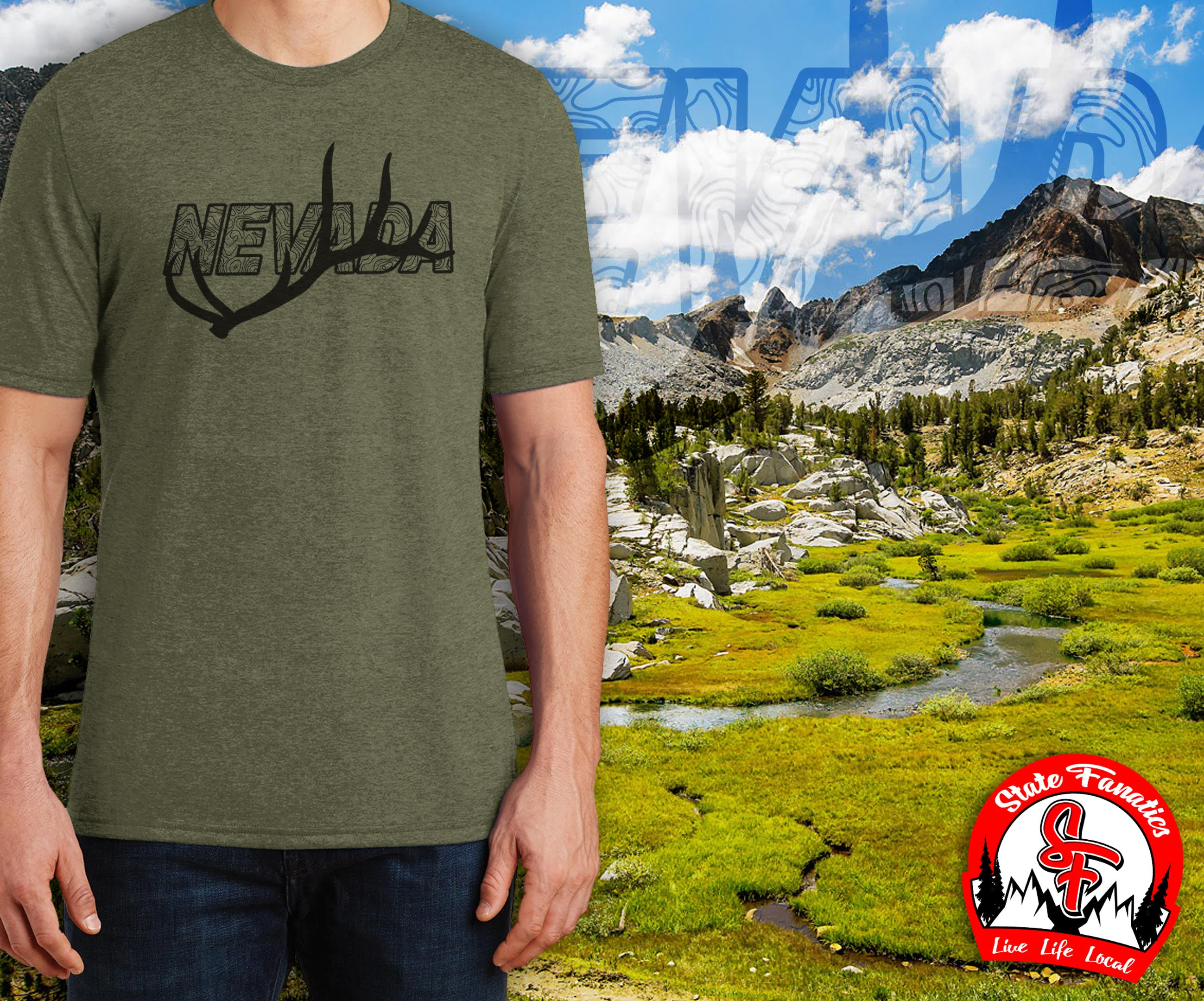 NEVADA ANTLER T-SHIRT