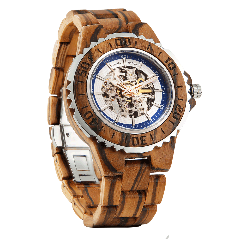 Men's Automatic - Zebra Wood