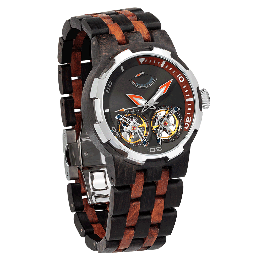 Men's Premium Automatic - Ebony & Rosewood