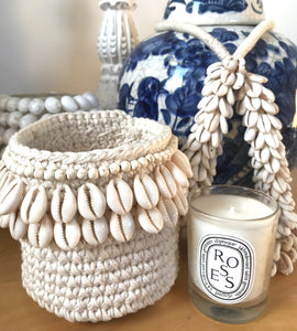 Crochet and and Shell Basket
