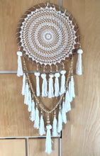 Load image into Gallery viewer, XL Wood and Crochet Dreamcatcher