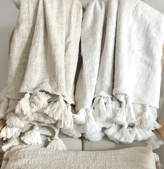Handwoven Balinese Throw - Natural