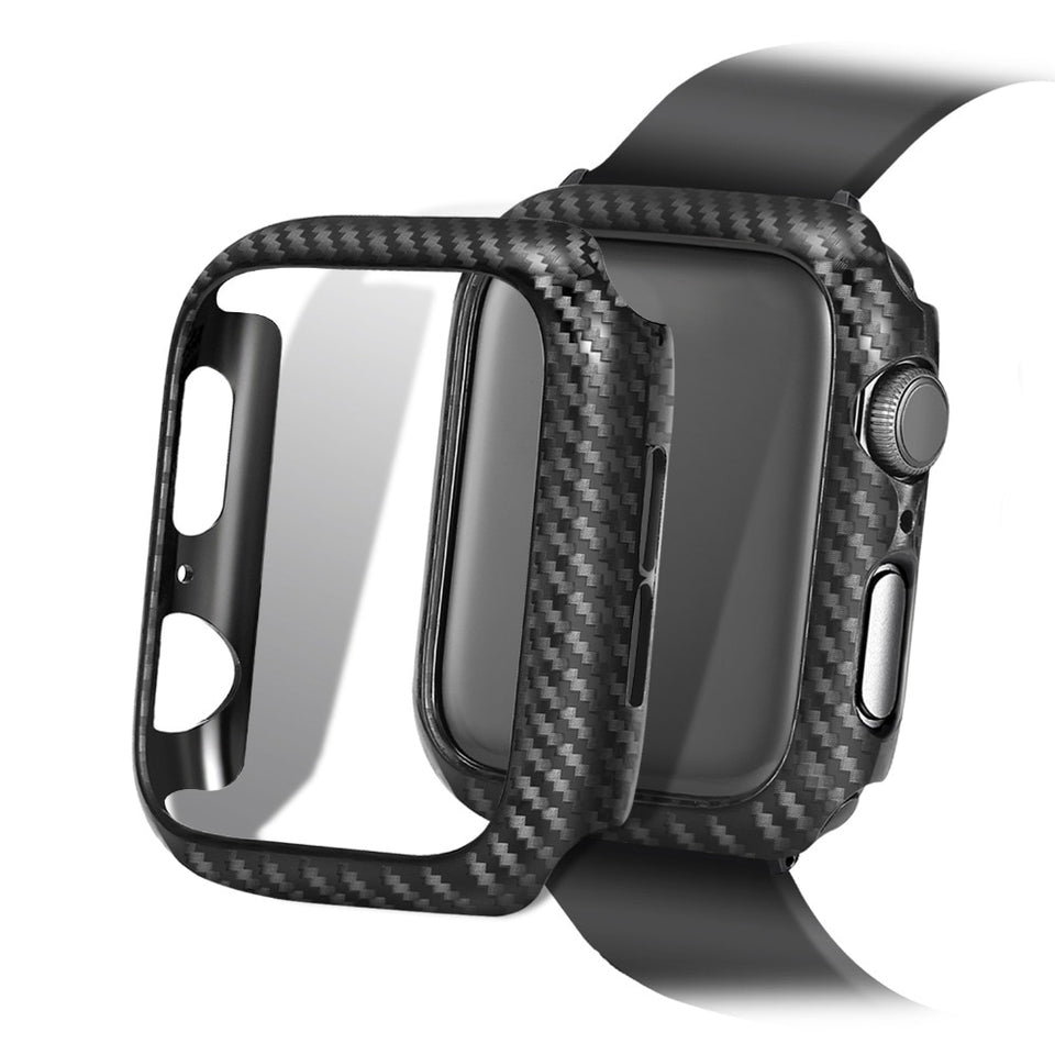 Screen Protective case For Apple Watch 4 5 3 iwatch 44/42mm 40/38mm Frame Carbon Protective Case covers Bumper watch Accessories