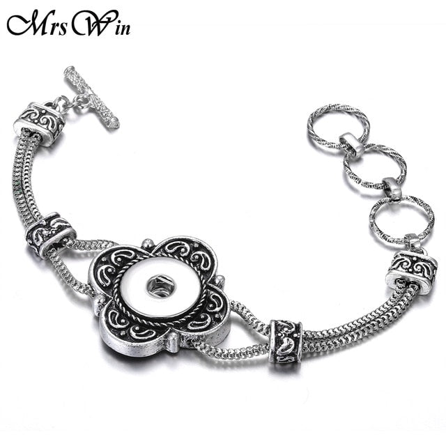 2019 New Vintage  Snap Silver Jewelry - Blg-19 The Complete Store for You