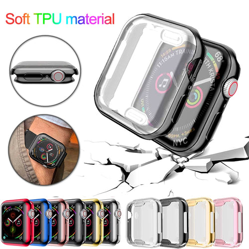 Watch Cover case For Apple Watch series 5 4 3 2 1 band case 42mm 38m 40mm 44mm Slim TPU case Protector for iWatch 4 44mm - Blg-19 The Complete Store for You