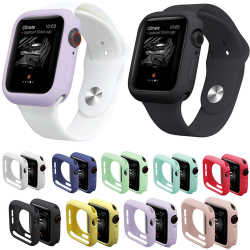 9 Colors Watch Case for iWatch Series 5 4 Cover Fall Resistance Soft TPU Silicone Case for Apple Watch 44mm 40mm Cover - Blg-19 The Complete Store for You