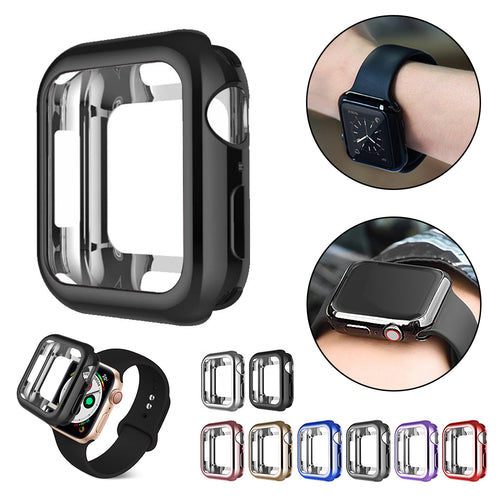Watch case ultra-thin plated watch case for Apple 4 3 2 1 42MM 38MM soft transparent TPU cover for iWatch 5 44MM 40MM - Blg-19 The Complete Store for You
