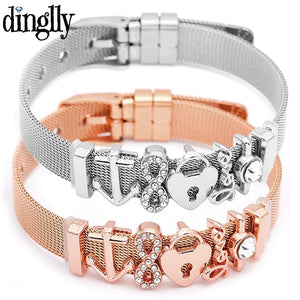 DINGLLY Fashion Stainless Steel Bracelets - Blg-19 The Complete Store for You