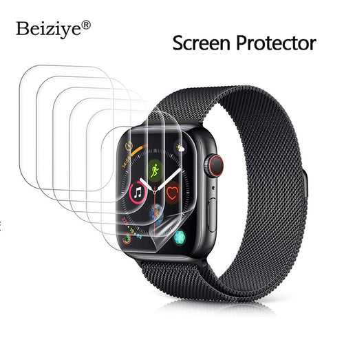 Screen Protector for Apple Watch 38mm 42mm Series 3 2 1 Anti-Scratch for iWatch 40mm 44mm Series 4 5 Soft TPU HD Clear Film - Blg-19 The Complete Store for You