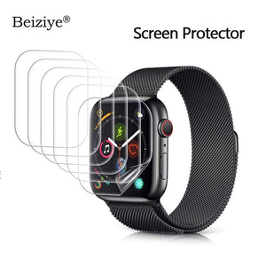 Screen Protector for Apple Watch 38mm 42mm Series 3 2 1 Anti-Scratch for iWatch 40mm 44mm Series 4 5 Soft TPU HD Clear Film